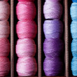 Stock Photo: Pink and blue threads