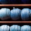 Stock Photo: Blue threads