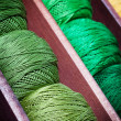 Stock Photo: Green threads