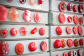 Red vintage buttons — Stock Photo