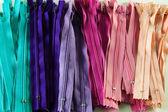 Colourful zips — Stock Photo