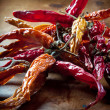 Dried peppers — Stockfoto