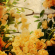 Vintage yellow roses — Stock Photo