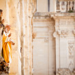 Saint statues in Lecce - Stock Photo