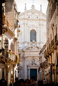 View of Lecce with St Irene — Stockfoto