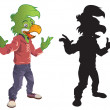 ������, ������: Parrot Mascot and Silhouette