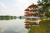 Two pagodas on lake — Stock Photo
