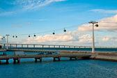 Lissabon, touw-weg over de zee — Stockfoto