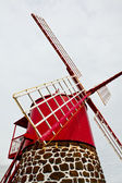 Closeup větrný mlýn — Stock fotografie
