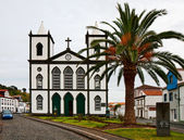 The Catholic Church in the town Lajes do Pico — Stock Photo