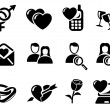 Stock Vector: Love and dating icons