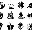 Stock Vector: Environment icons