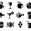 Stock Vector: Food and drink icons