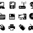 Stock Vector: Hardware icons