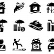 Stock Vector: Insurance icons