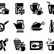 Stock Vector: Kitchen and cooking icons