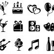 Party pictogrammen — Stockvector