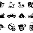 Vacation icons - Stock Vector