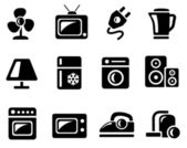 Home-elektronica pictogrammen — Stockvector