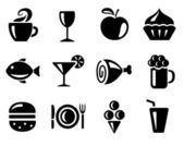 Food and drink icons — Vettoriale Stock