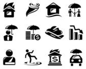 Insurance icons — Vettoriale Stock