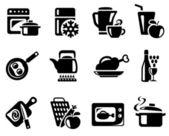 Kök och matlagning ikoner — 图库矢量图片