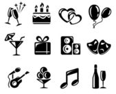 Party icons — Vettoriale Stock