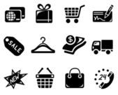 Shopping icons — Vector de stock