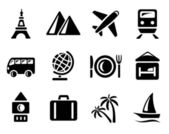 Travel icons — Vettoriale Stock
