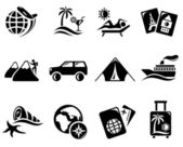 Vacation icons — Vettoriale Stock