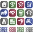Stock Vector: Real estate buttons