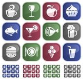 Food and drink buttons — Vettoriale Stock