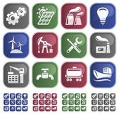 Industrial buttons — Stock Vector