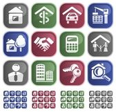 Real estate buttons — Vettoriale Stock