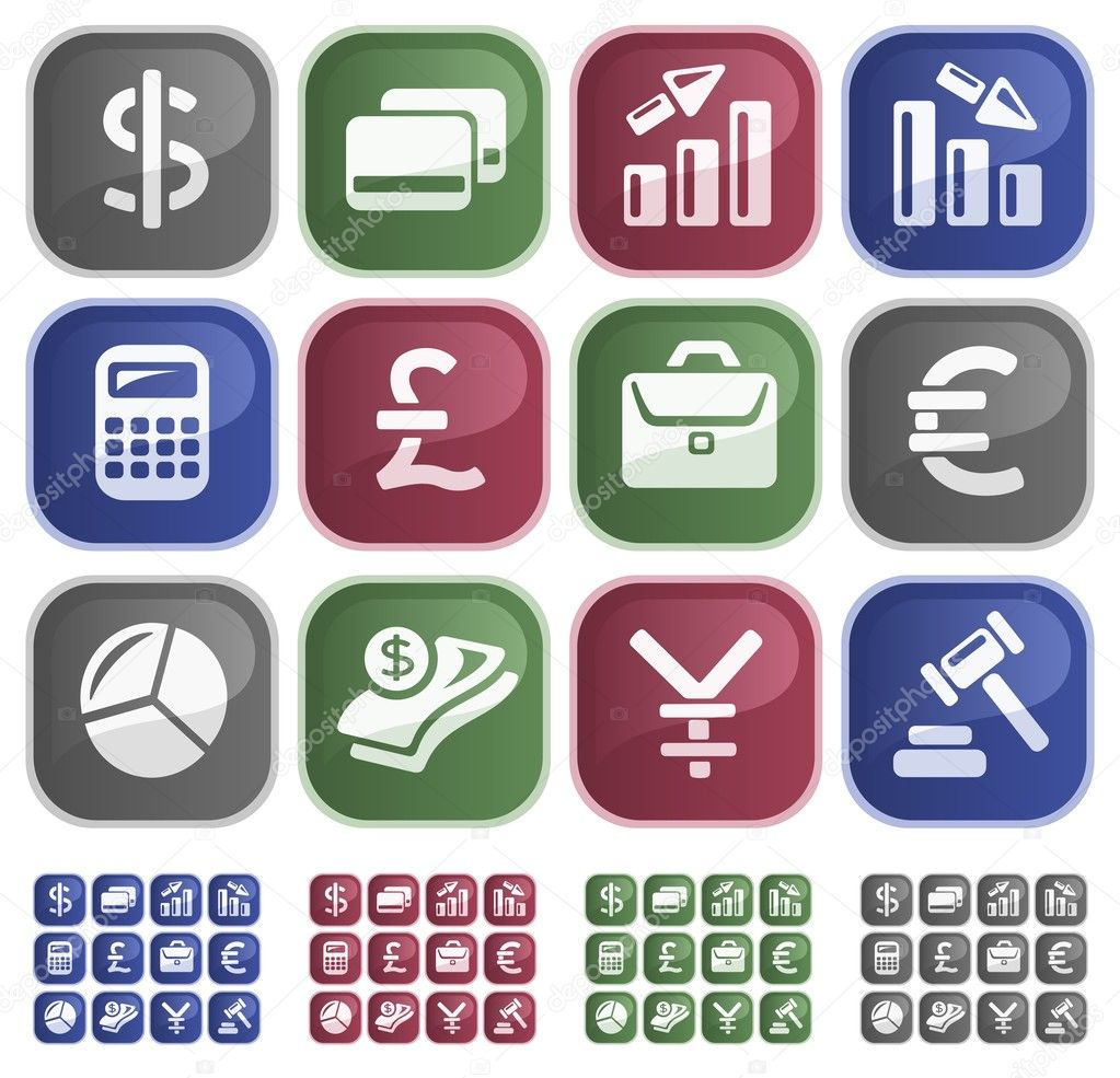 Finance button set — Stock Vector #11376359