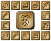 Office buttons — Vetorial Stock