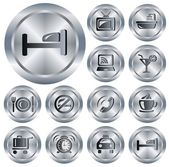 Hotel buttons — Stock Vector