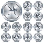 Sport buttons — Stock Vector