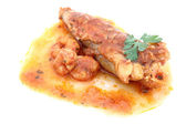 Fillet of Fish with shrimps — Stock Photo