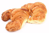 Croissants in a white background — Stok fotoğraf