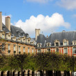 Stock Photo: French architecture, houses in Paris