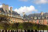 French architecture, houses in Paris — Stok fotoğraf