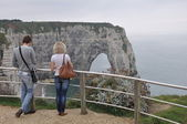 Lovers Cliffs of Etretat Normandy France — Stock Photo