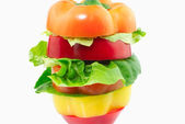 Peppers and lettuce hamburger — Stock Photo