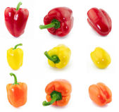 Peppers collage — Stock Photo