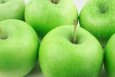 Many green apples — Stock Photo