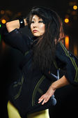 黑发的亚洲模式 — 图库照片