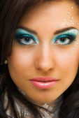 Make up with pastes — Stock Photo