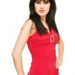 Brunette in red dress — Stock Photo #11158116