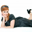 Smile of redheaded — Stock Photo